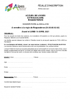 FEUILLE INSCRIPTION – ACCUEIL ROQUESTERON – ALSH