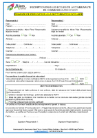 Formulaire dérogation école dans CCAA 2021