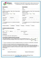 Formulaire inscription école 2021